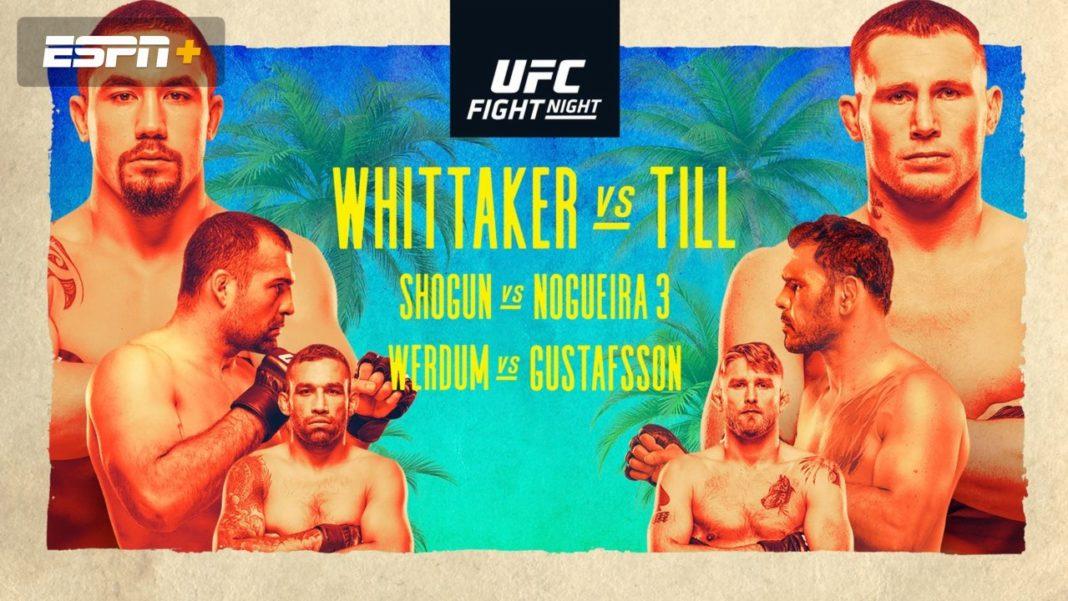 Результаты турнира UFC on ESPN 14: Уиттакер - Тилл