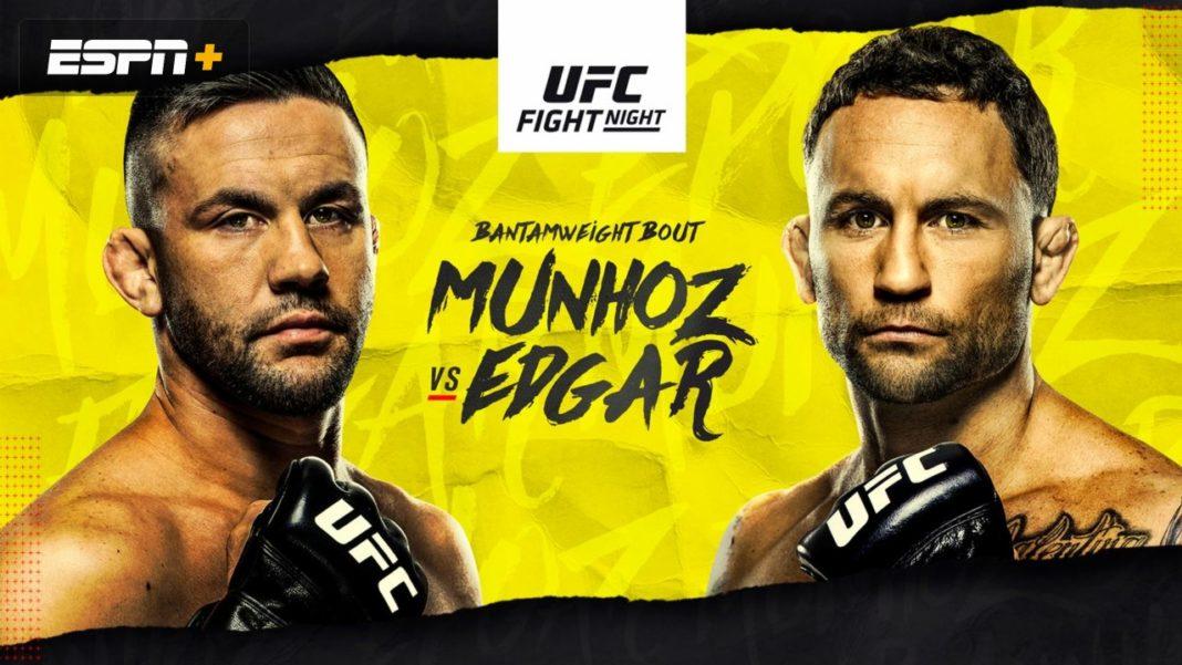 Результаты турнира UFC on ESPN 15: Муньос - Эдгар