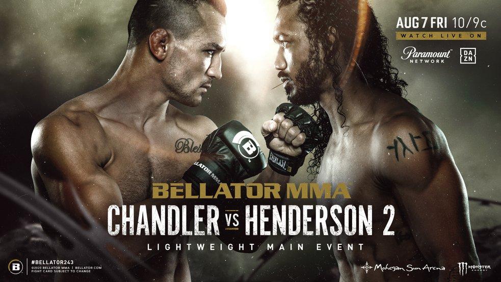 Кард турнира Bellator 243: Майкл Чендлер - Бенсон Хендерсон 2