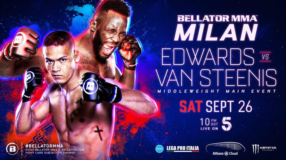 Кард турнира Bellator Milan: Эдвардс - ван Стинис