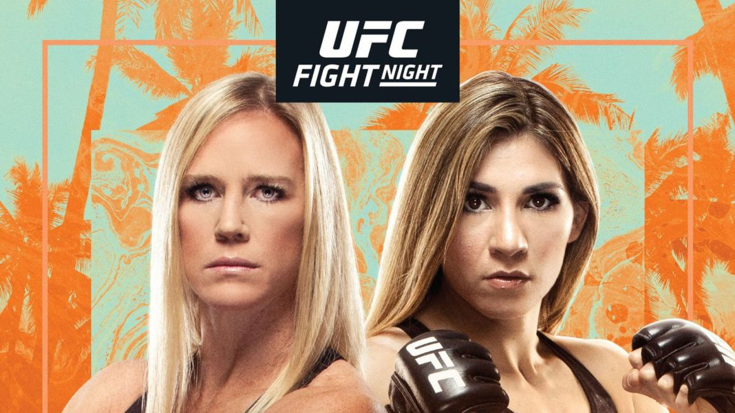 Кард турнира UFC on ESPN 16: Холм - Алдана