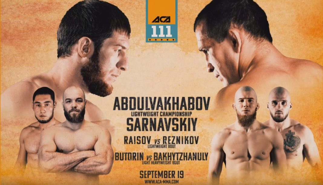 Кард турнира ACA 111: Абдулвахабов - Сарнавский