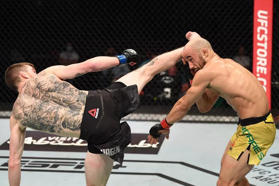 Результаты турнира UFC Fight Night 179: Мораес - Сандхаген