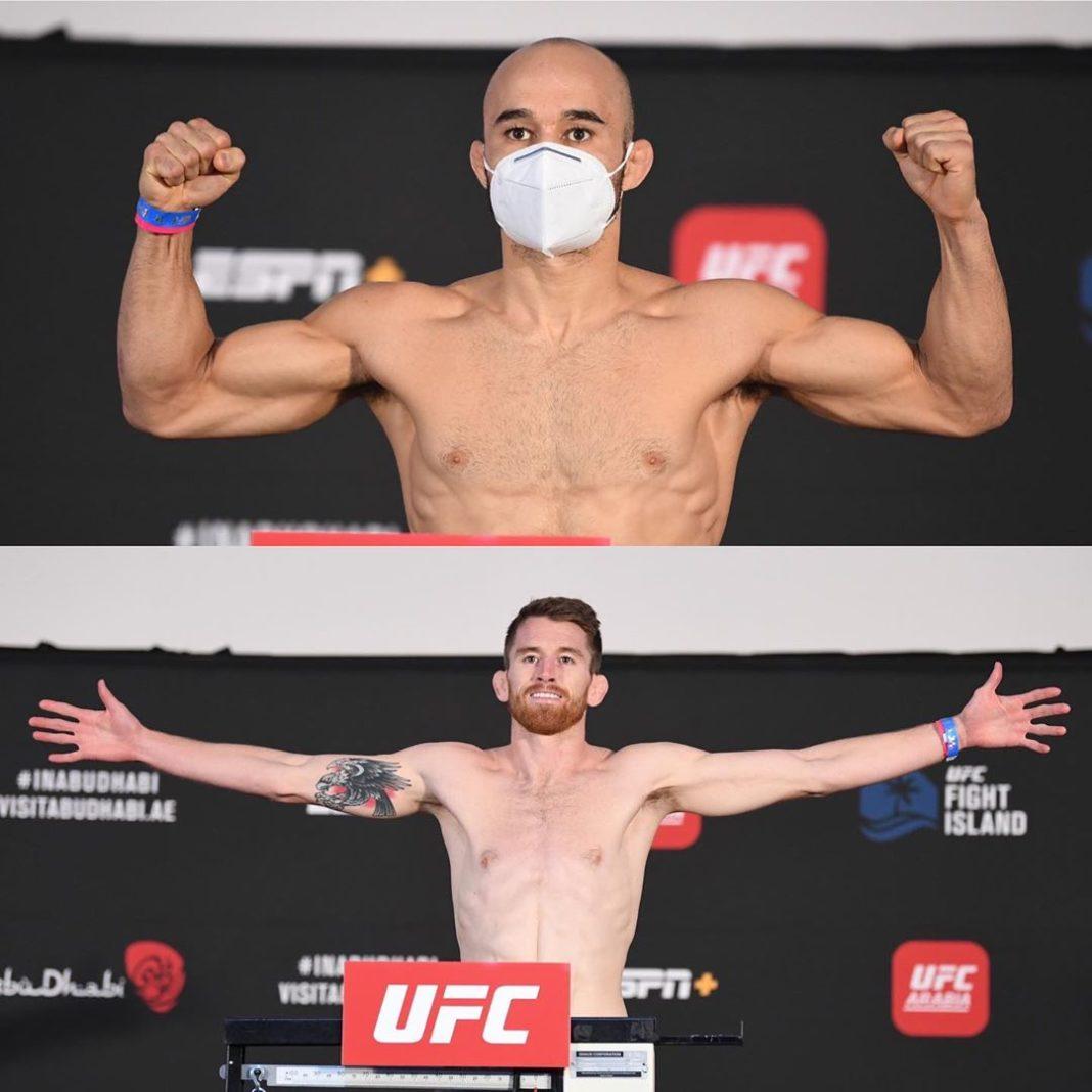 Результаты и видео взвешивания UFC Fight Night 179: Мораес - Сандхаген