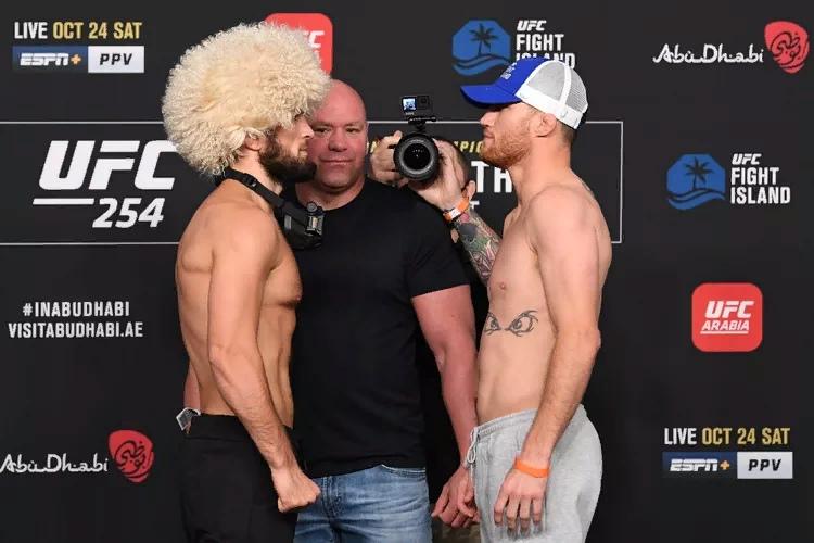 Битвы взглядов UFC 254: Хабиб - Гэтжи