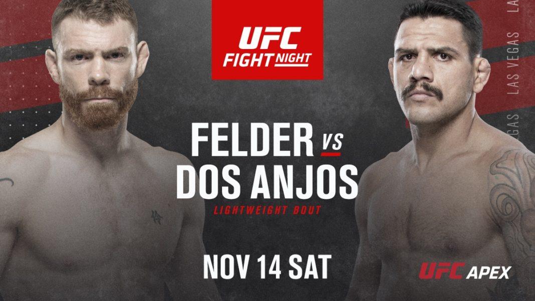 Кард турнира UFC Fight Night 182: Фелдер - Дос Аньос