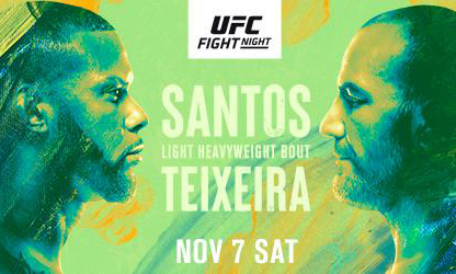 Кард турнира UFC on ESPN 17: Сантос - Тейшейра