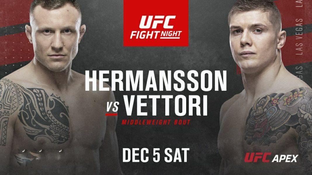 Кард турнира UFC on ESPN 19: Херманссон - Веттори