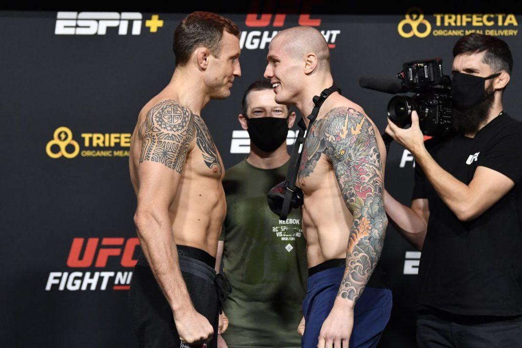 Результаты турнира UFC on ESPN 19: Херманссон - Веттори
