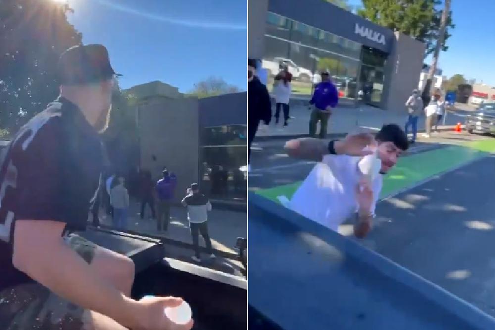 Блогер Джейк Пол закидал бойца Bellator Диллона Дэниса шариками с водой и туалетной бумагой
