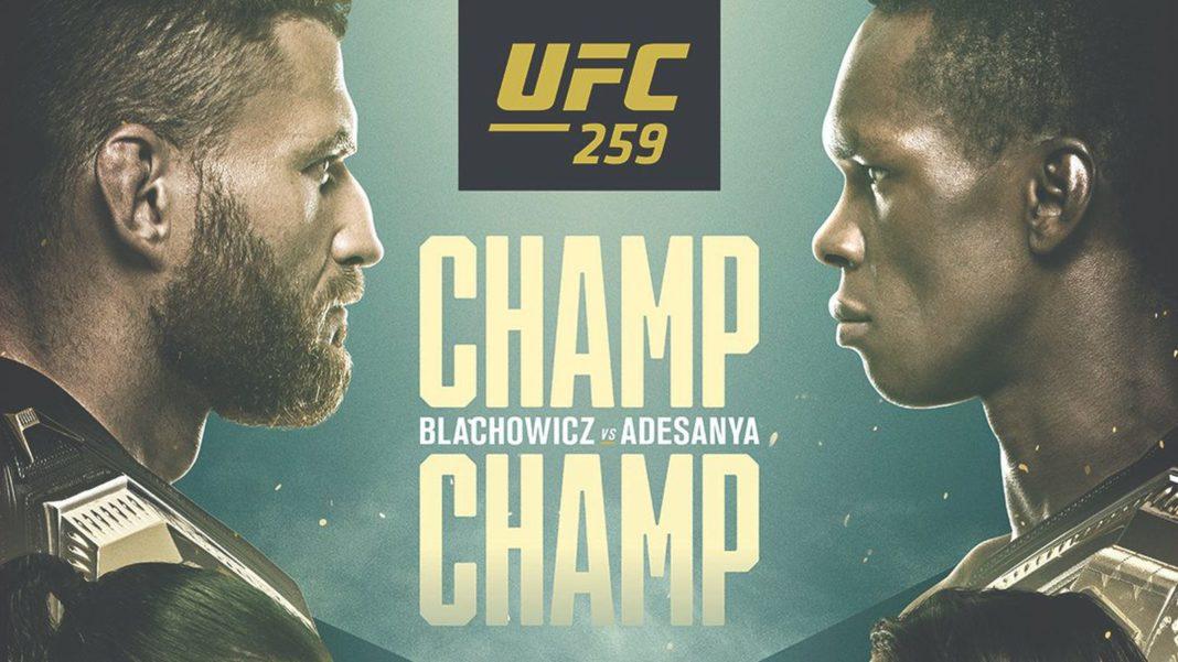 Кард турнира UFC 259: Блахович - Адесанья