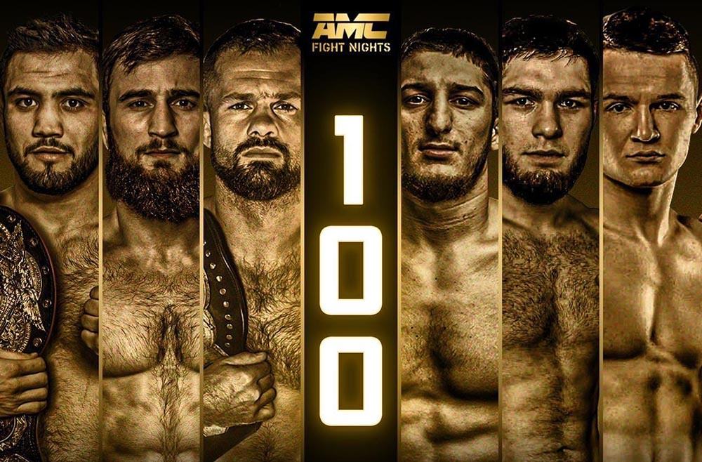 Кард турнира AMC Fight Nights 100: Бикрев - Дазаев